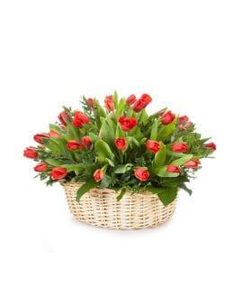 Корзина с цветами №26