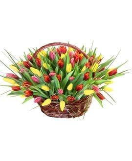 Корзина с цветами №25