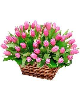 Корзина с цветами №24