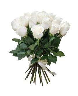 Букет 25 белых роз Эквадор(40см)