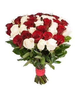 Букет 51 роза Эквадор 40см(выбрать цвет)