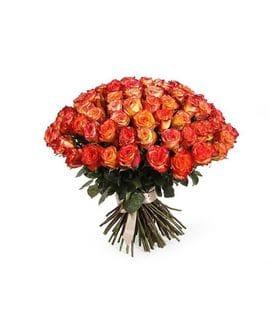 Букет 101 роза High Magic(50см)