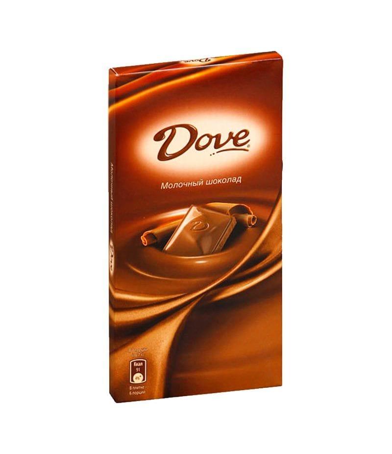Шоколад Dove молочный  90г(в ассортименте)