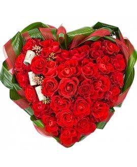 Сердце из 31 розы(кения)