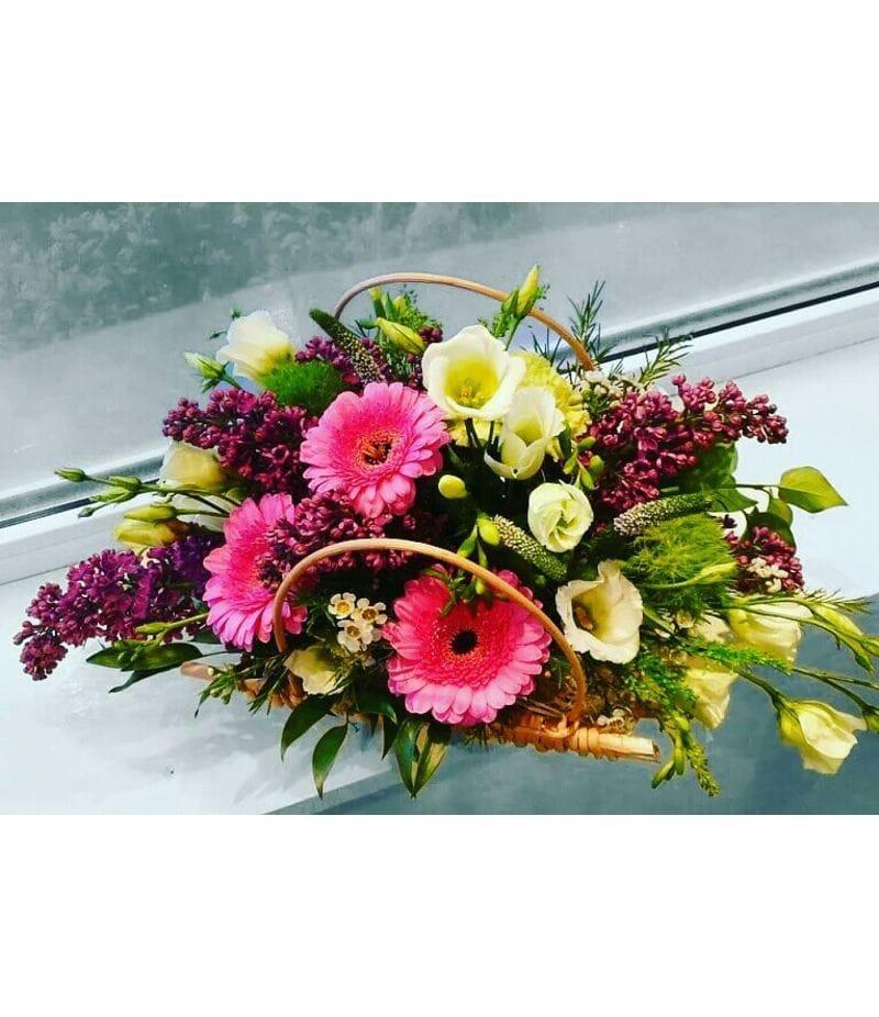 Корзина с цветами №12