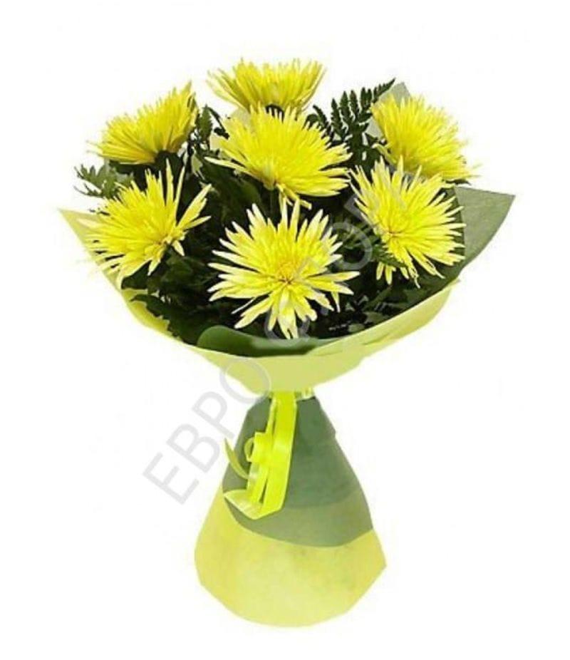 Букет из желтой хризантемы