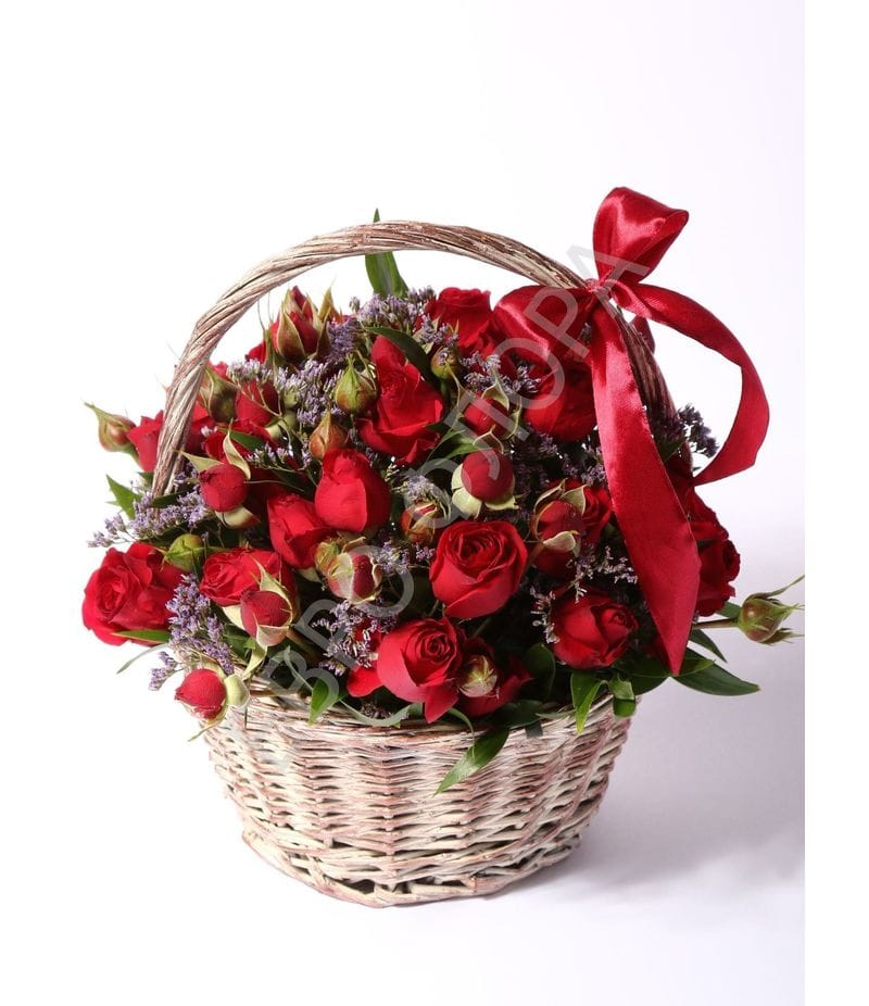 Корзина с цветами №3