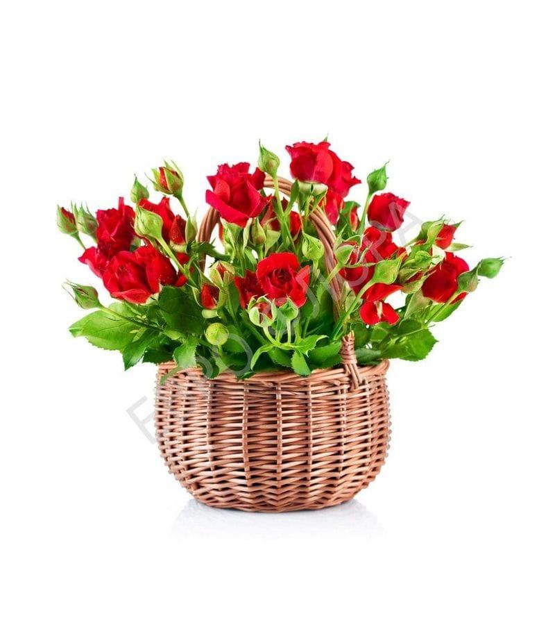 Корзина с цветами №21