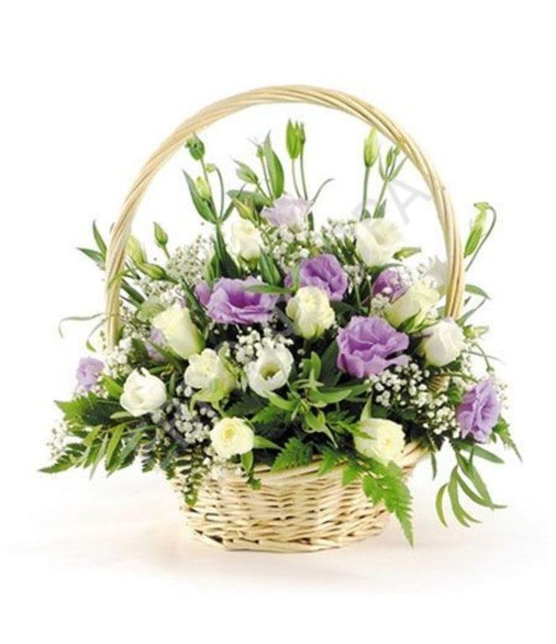 Корзина с цветами №4