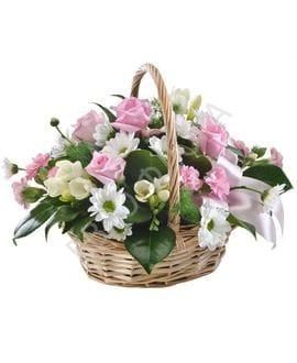 Корзина с цветами №14