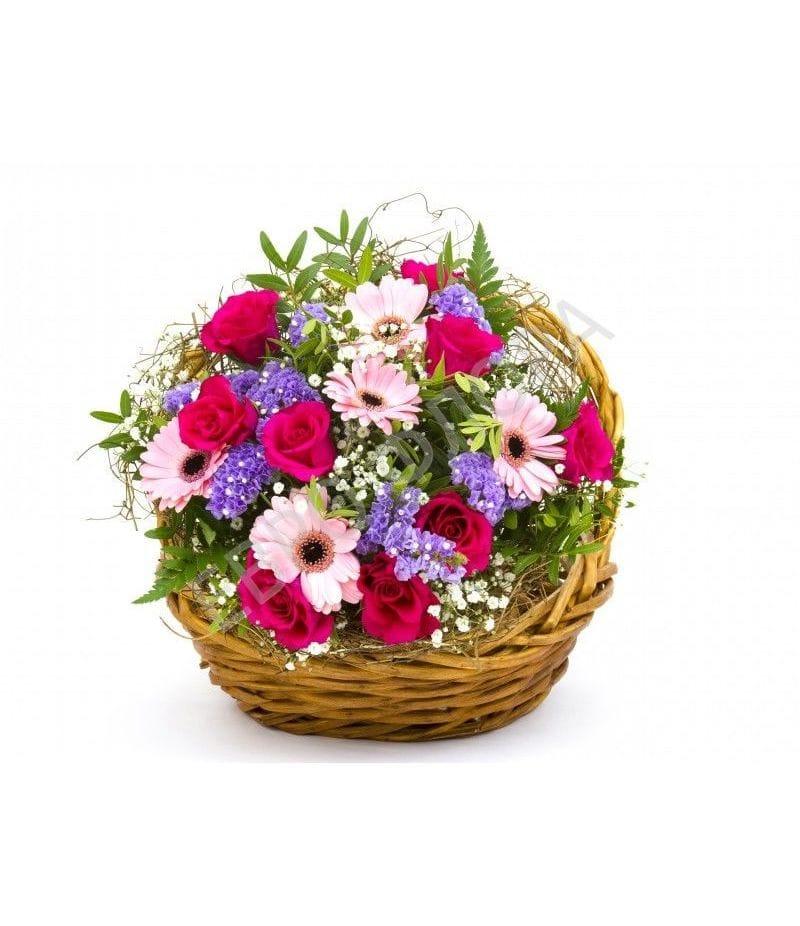 Корзина с цветами №15