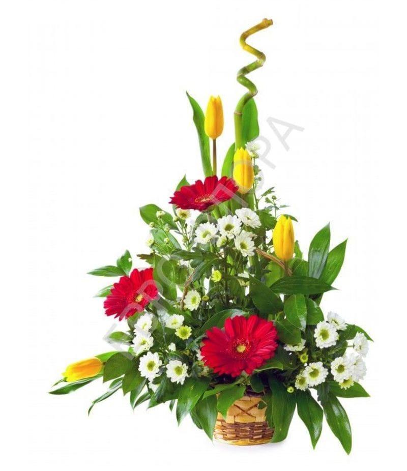 Корзина с цветами №16