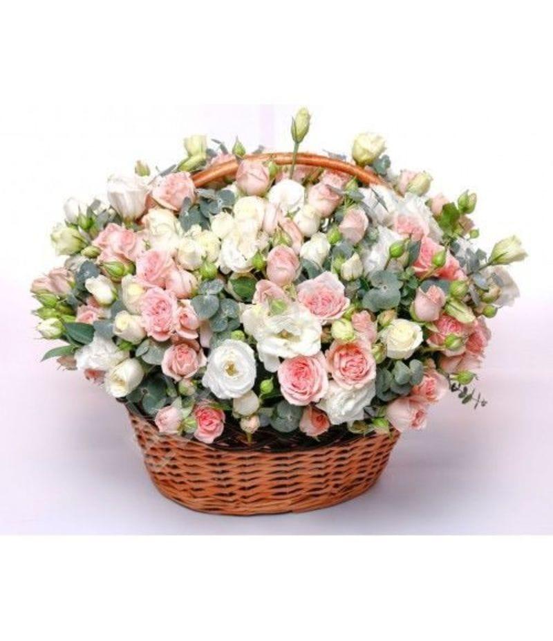 Корзина с цветами №13