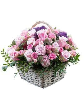 Корзина с цветами №11