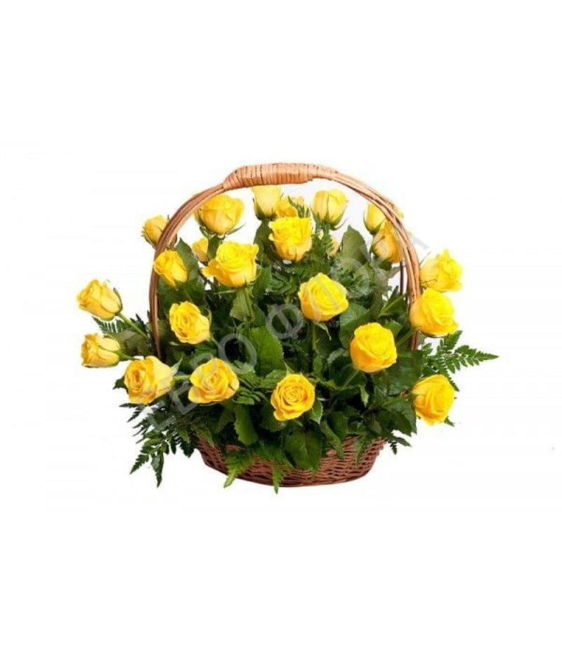 Корзина с цветами №17