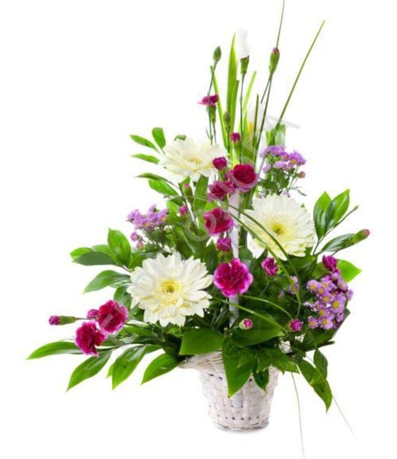 Корзина с цветами №7
