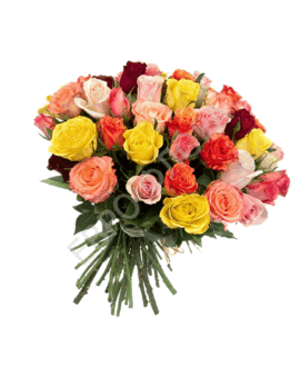 Букет из 25 кенийских роз (50см)