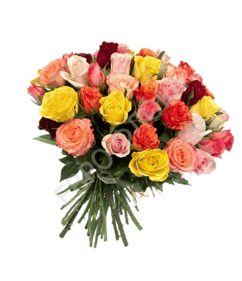 Букет из 25 кенийских роз (40см)