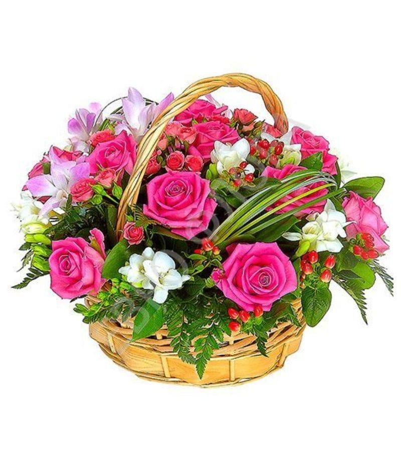 Корзина с цветами №8