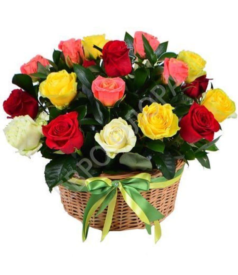Корзина с цветами № 27
