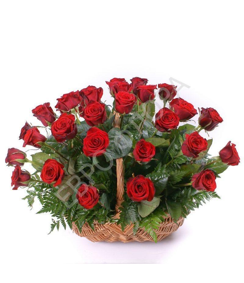 Корзина с цветами №10