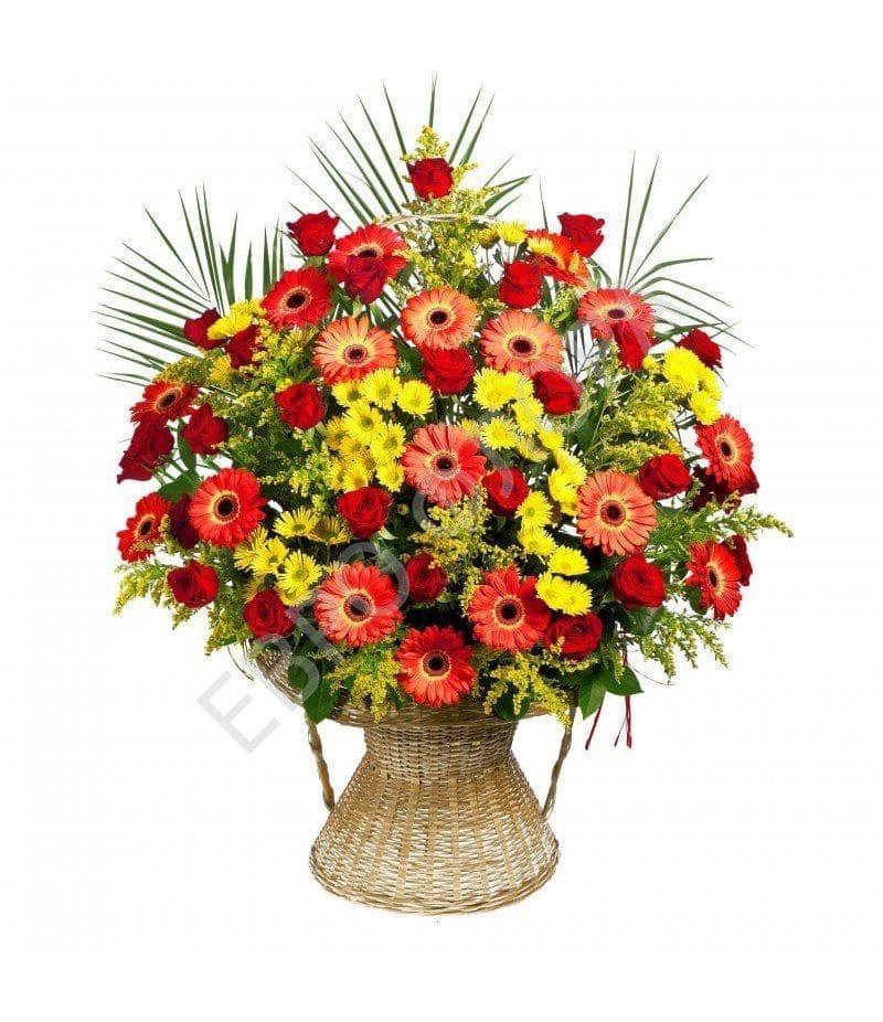 Корзина с цветами №20
