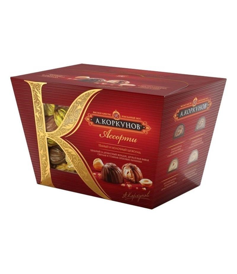 """Конфеты """"Коркунов"""" ассорти в темном и молочном шоколаде 137г"""