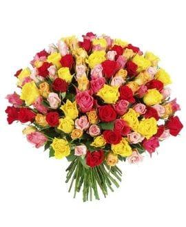 Букет 101 Кенийская роза 50см. (Выбрать цвет)
