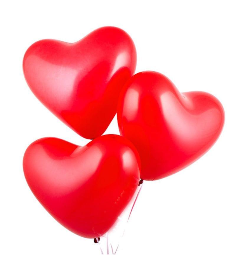 Шар с гелием в виде сердца (красный)