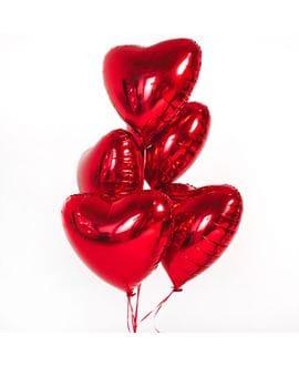 Шар с гелием в виде сердца (фольга)