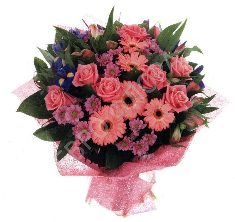 Букет герберы и розы